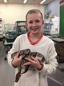 LMC student and snake