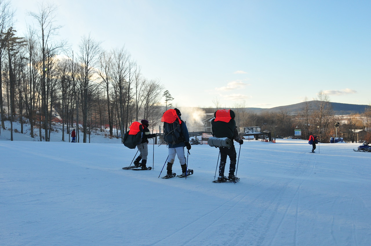 4 Snowshoers - after spending time in Dolly Sods Wilderness Area