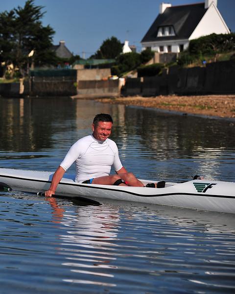 2014 Aug 03 - Alain on his new surfski