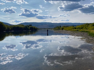 Blue River Reflections