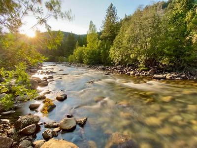 Sunset on South Boulder Creek