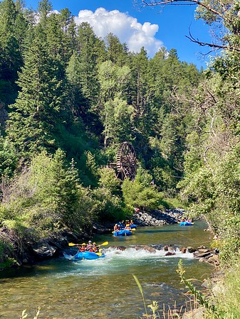 Rafters on Clear Creek