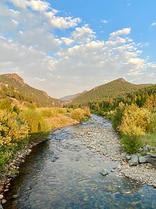 South Boulder Creek flowing east from Rollinsville