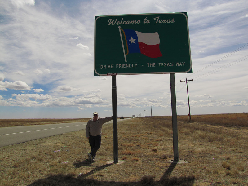 We must have driven friendly. We are in Texas (with no accidents) already!