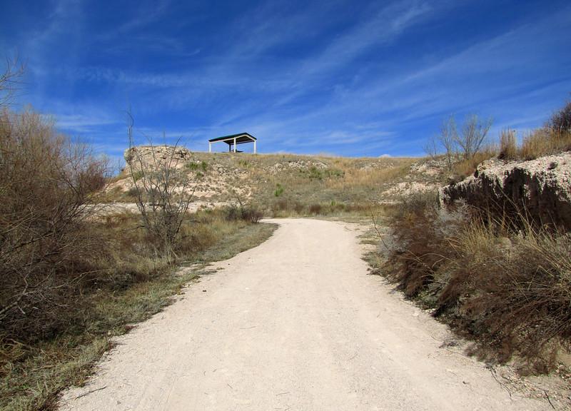 Headed toward the cache.