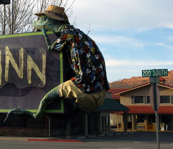Gonzo the Lizard, Moab Utah.