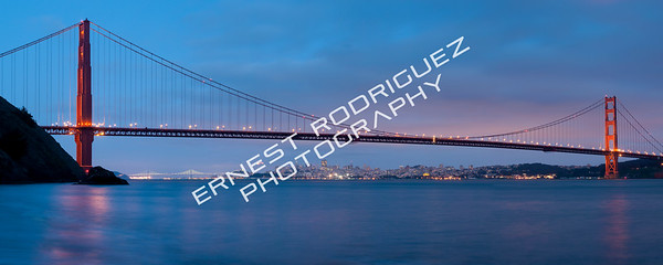 """Moon Rising Under Golden Gate Bridge"" - April 2013"