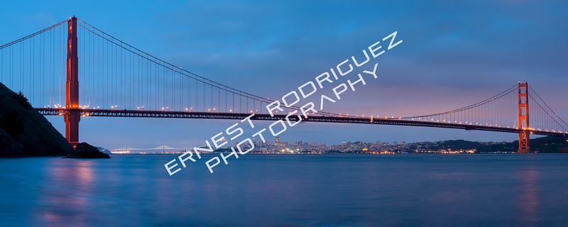 """Moon Rising Under Golden Gate Bridge"" - April 2013"