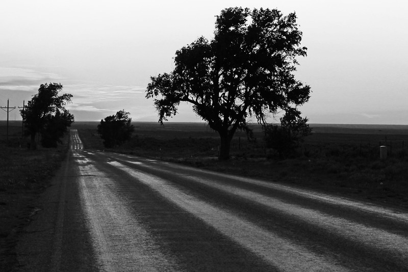 A lonely Texas road