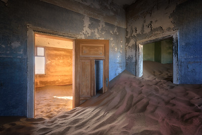 In the Ghost Town of Kolmanskop, Namibia