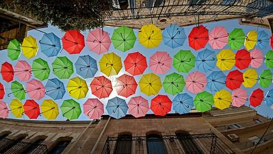 Jerusalem Nachlat Shiva Umbrellas 100