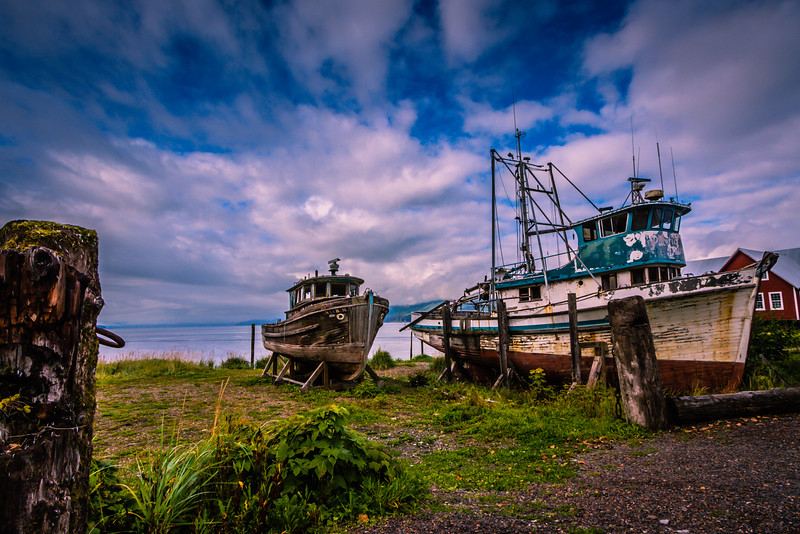 Vintage Boats at Icy Strait Point, Alaska