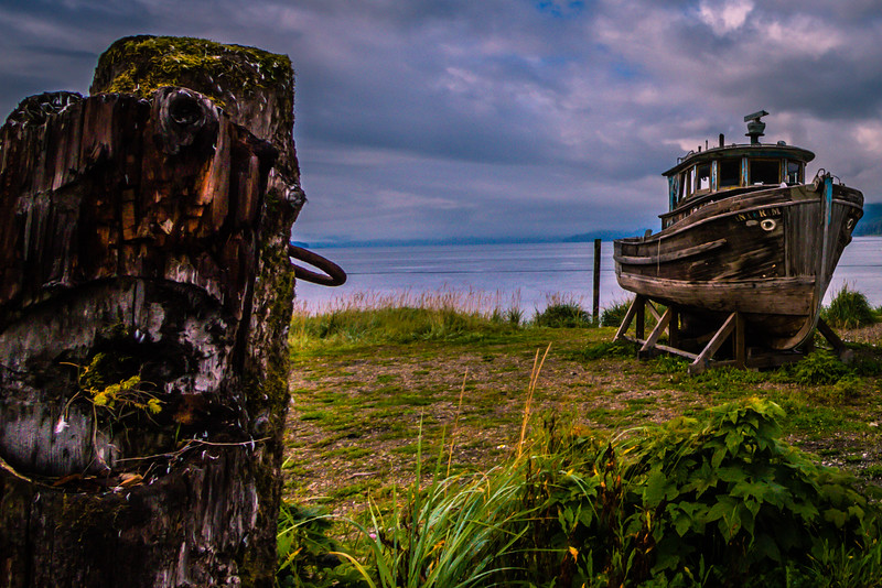 Vintage Boat at Icy Strait Point, Alaska