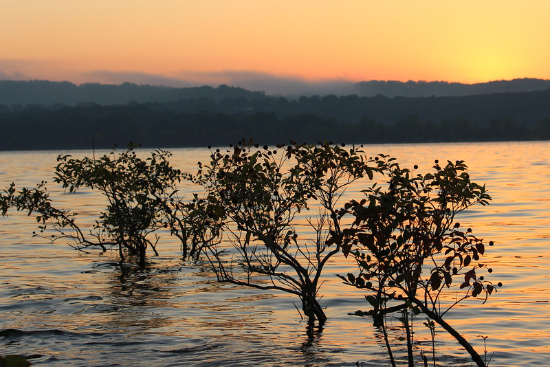 Indian Point, Table Rock Lake, Branson Missouri Sunrise on 9/27/2013