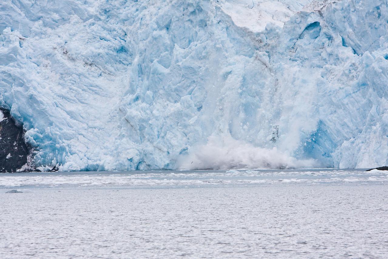 Calving of glacier