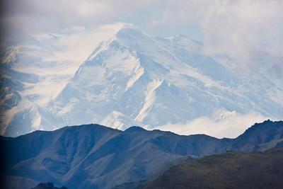 Mt. McKinley in a rare show through the clouds