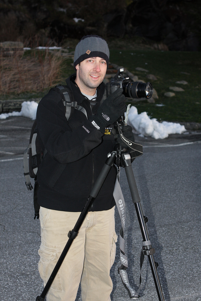 "Bob ""Choo Choo"" Farkle on Clingman's Dome with snow"