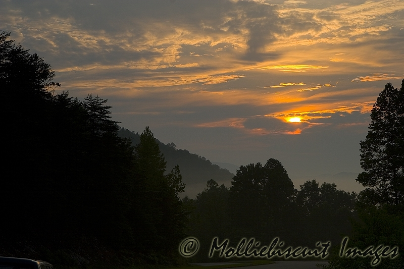 Sunrise along the Foothills Parkway