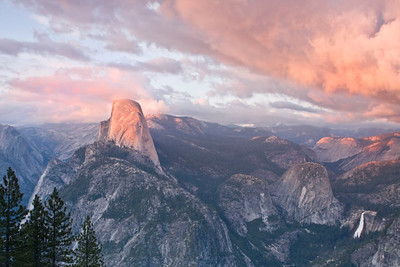 Halfdome at sunset