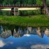 Reflection under the Swinging Bridge