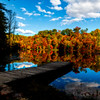 Dock at lake in the Fall