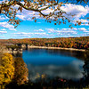 Blue water in the fall