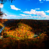 Fall colors at a horsehoe bend