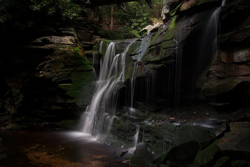 The first of the four  Elakala Falls