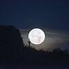 Super Moon Setting at Dawn Dinosaur Mt Gold Canyon AZ