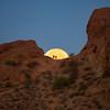Super Moon Setting Papago Park Phoenix Arizona