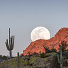 Supermoon Rising over Apache Leap Superior Arizona