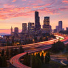 "<b>""SEATTLE SUNSET""</b>  Seattle, Washington  Day turns to night over one of the most beautiful city skylines in the world."