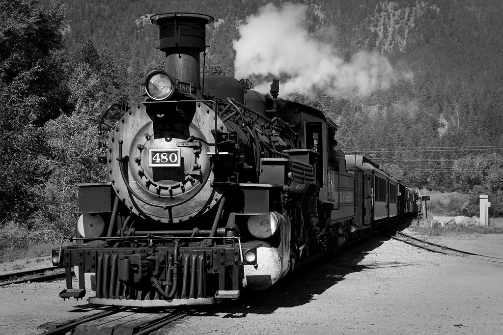The Durango Silverton Train Line in Durango, Colorado.