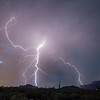 Lightning Show Over Gold Canyon with Superstition Mtns