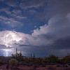 Lightning thru the Cloud  October Storm, Gold Canyon AZ