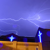 Sideways Lightning over St George church Mesa AZ