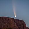 Neowise Comet rising Superstition Mt. Ridge AZ