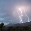 Lightning Strikes South side of Superstition Mts AZ