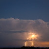 Double Strike Thru Clouds Arizona Monsoon