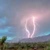 Double Strike over Superstition Mountains, Peralta Road Gold Canyon AZ