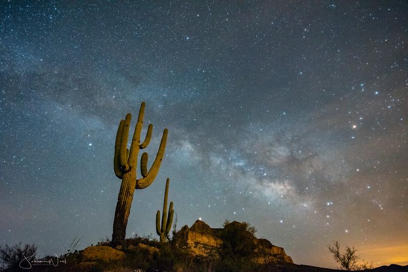April Milky Way Over Pickett Post Mountain  AZ