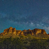 Milky Way over Superstition Mountains, AZ