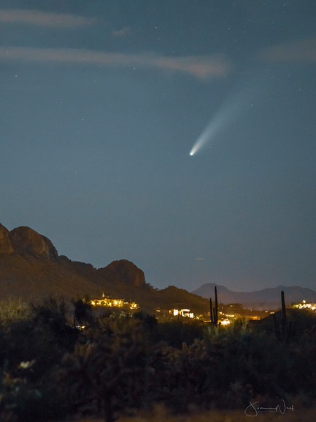 Comet Neowise Over Gold Canyon AZ July 16th