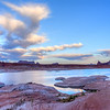 Turtle Rock and Dawn Colors, West Canyon Lake Powell Utah