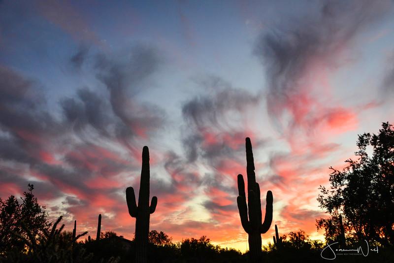 Smoke Signals at Sunset AZ