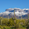 Superstition Mountains after Feb 2019 Snowstorm