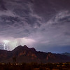 Monsoon Storm over Superstition Mountains, Arizona