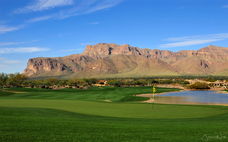 18th Hole Superstition Mountain Golf Resort Gold Canyon AZ