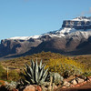Rare Snow Superstition Mountains, Gold Canyon AZ