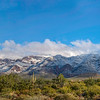Panoramic Snow on Superstitions New Years Day 2015